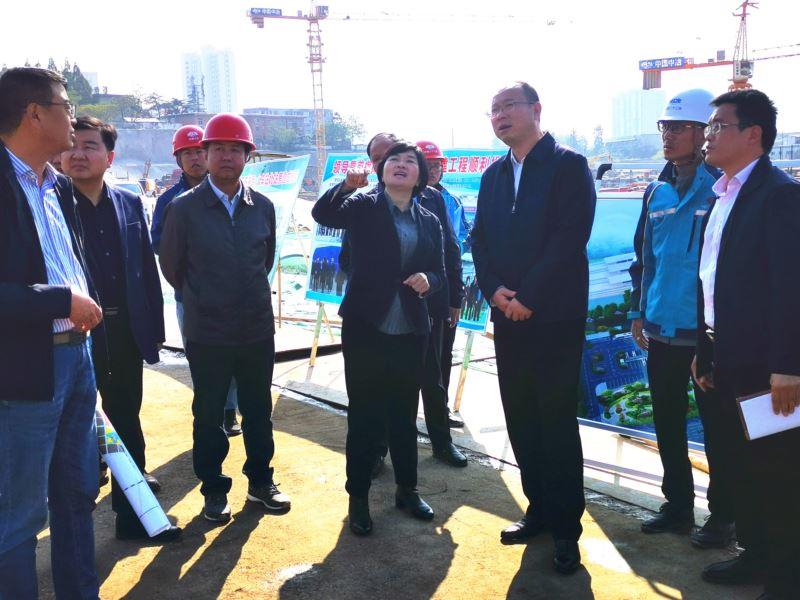 蔡松涛副市长调研火车站北广场项目