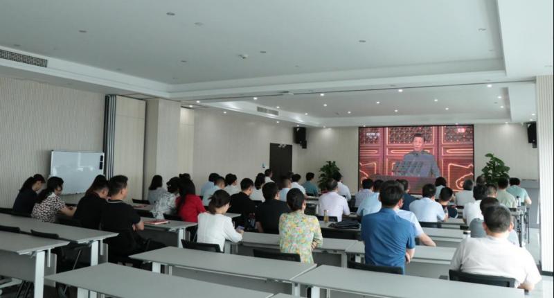 信阳头头线上娱开户投资集团集中收看庆祝中国共产党成立100周年大会
